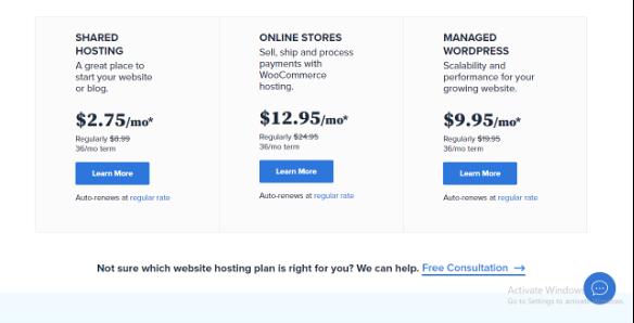 BlueHost, Web Hosting For E-commerce