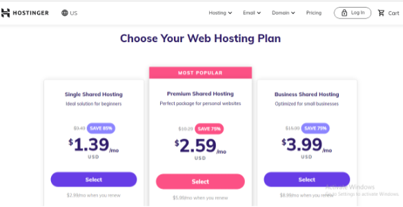 Hostinger, Web Hosting For E-commerce